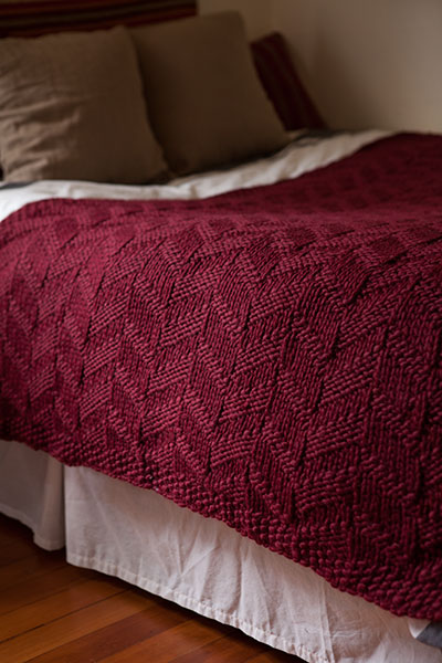 Knitting Patterns For Throws : Mock Cable Blanket - Knitting Patterns and Crochet ...