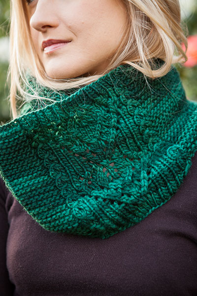 Double Leaf Knitting Pattern : Double Leaf Cowl - Knitting Patterns and Crochet Patterns from KnitPicks.com ...