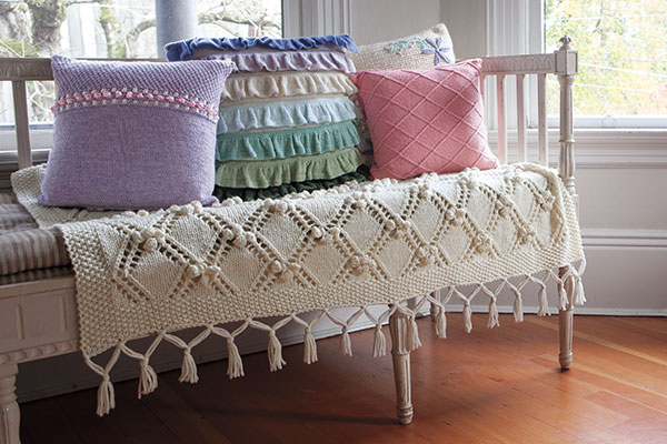Knitting Patterns For Couch Throws : Garden Path Throw - Knitting Patterns and Crochet Patterns from KnitPicks.com...