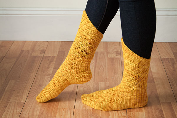 Oblique Socks by Mone Dräger from Artful Arches from Knit Picks