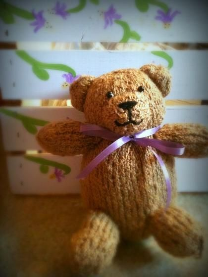 Dishcloth Patterns Knitting Beginners : Teddy Bear - Knitting Patterns and Crochet Patterns from KnitPicks.com