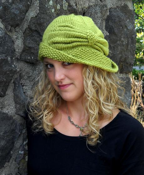 Free Knitting Pattern Hat 10mm Needles : Cloche Divine - Knitting Patterns and Crochet Patterns ...