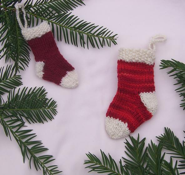Mini Christmas Stocking Knitting Pattern Free Mini Stocking Ornament