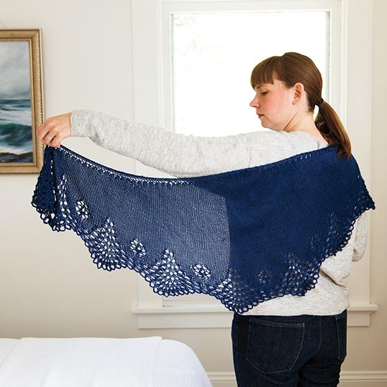 Free Knitted Shawlette Patterns : Tsidfy Shawlette Pattern - Knitting Patterns and Crochet Patterns from KnitPi...