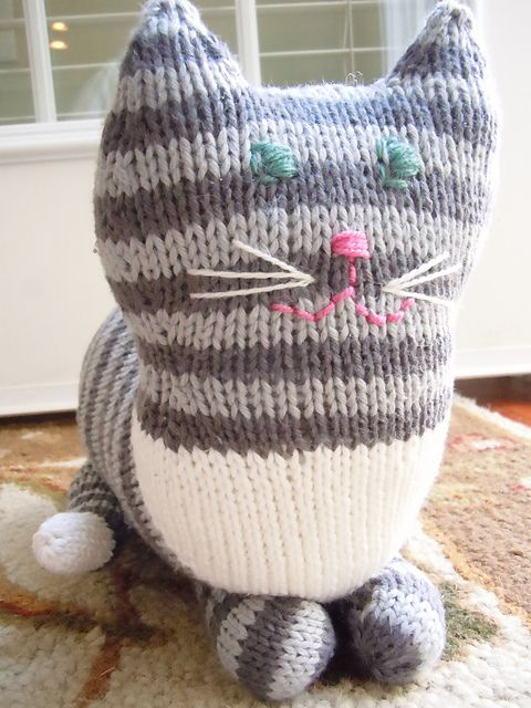 Cat Design Knitting Pattern : The Parlor Cat Pattern - Knitting Patterns and Crochet Patterns from KnitPick...