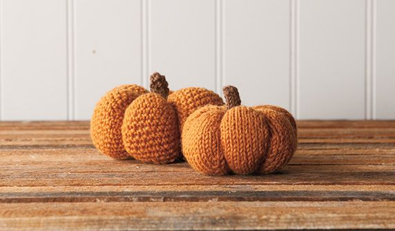 Knitted Pumpkin Pattern : Spice & Clove Knit and Crochet Pumpkins - Knitting Patterns and Crochet P...
