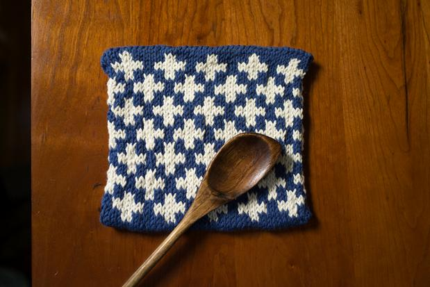 Knitting Pattern For A Pot Holder : Toasty Plus Pot Holder - Knitting Patterns and Crochet Patterns from KnitPick...