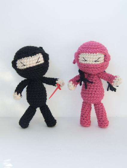 Free Crochet Pattern For Ninja Hat : Ninja Attack! Crochet Dolls - Knitting Patterns and ...