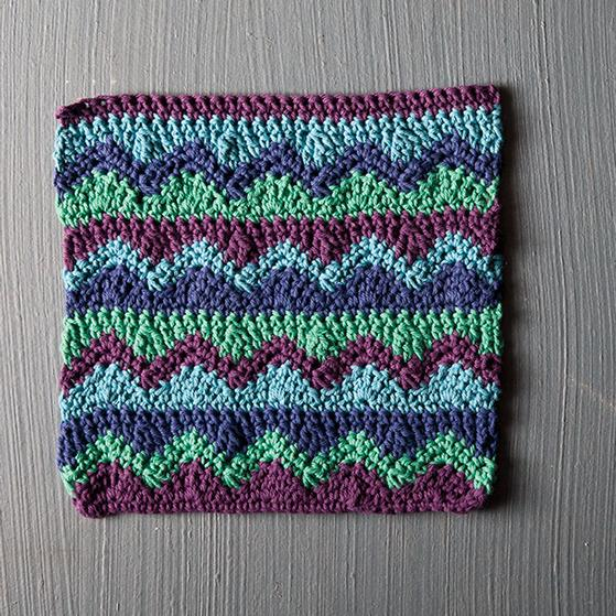Knitted Baby Blanket Dishcloth Pattern : Mismatched Crochet Dishcloth - Knitting Patterns and Crochet Patterns from Kn...
