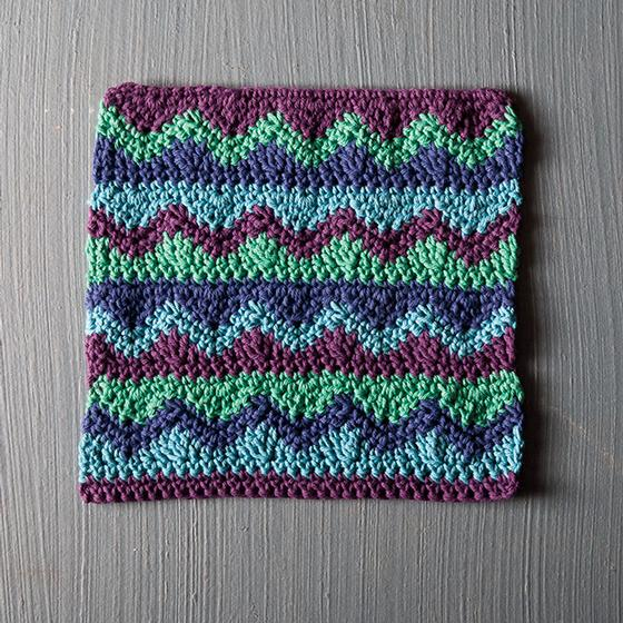 Knitting Pattern For Dishcloth For Idiots : Mismatched Crochet Dishcloth - Knitting Patterns and Crochet Patterns from Kn...