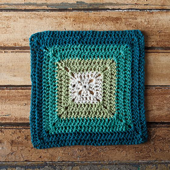 Crochet Granny Square Dishcloth Pattern : Teal Swirl Crochet Dishcloth - Knitting Patterns and ...