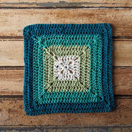 Teal Swirl Crochet Dishcloth - Knitting Patterns and ...