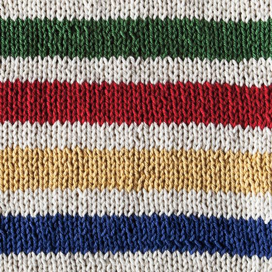 Knitting Pattern For Hudson Bay Blanket : Hudson s Bay Inspired Dishcloth - Knitting Patterns and ...