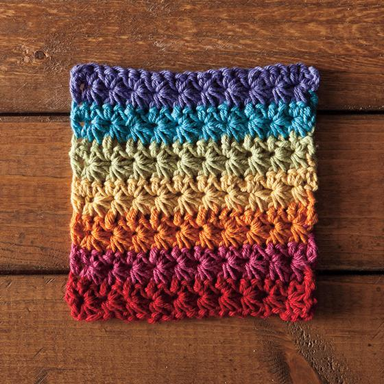 Crochet Patterns For Beginners Dishcloths : Fruity Loops Crochet Dishcloth - Knitting Patterns and ...
