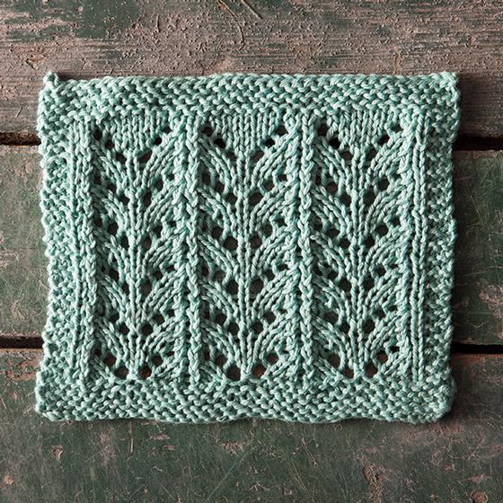 Lace Dishcloth Knitting Pattern : Ricochet Lace Dishcloth - Knitting Patterns and Crochet Patterns from KnitPic...