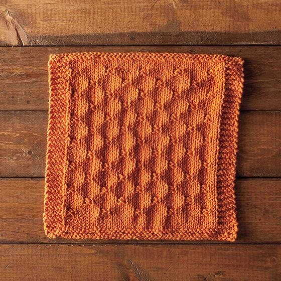 Knitted Chainmail Pattern : Chain Link Dishcloth - Knitting Patterns and Crochet Patterns from KnitPicks.com