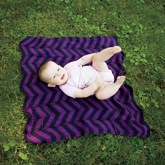 Chevron Cherub Wrap - Free Knitting Patterns