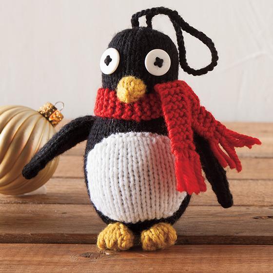 Knitted Penguin Pattern : Free knitting pattern   Penguin Ornament Knit Picks Blog Bloglovin