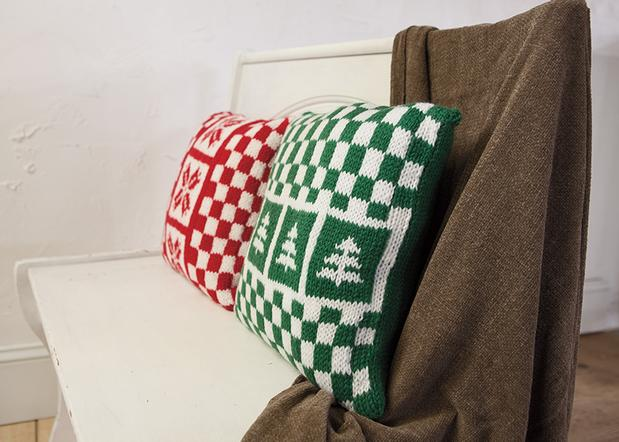 Holiday Pillow Set - Knitting Patterns and Crochet Patterns from KnitPicks.com