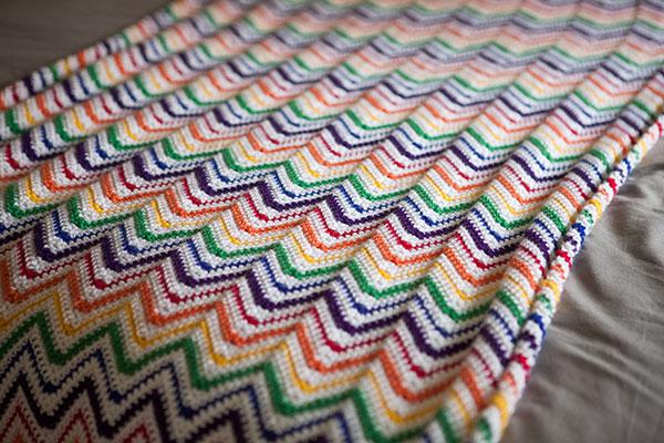 Rainbow Crochet Blankie -Free Crochet Pattern