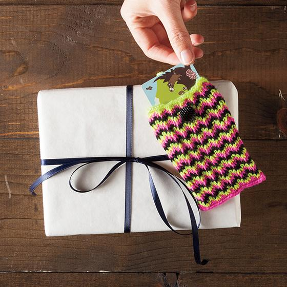 Chevron Gift Card Holder - Knitting Patterns and Crochet ...