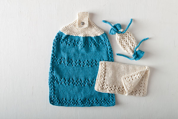 A Little Bit of Lace Bath Set - Free Knitting Pattern