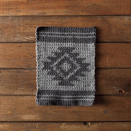 Aztec Knitting Patterns : Aztec Crochet Dishcloth - Knitting Patterns and Crochet Patterns from KnitPic...