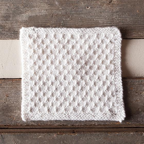 Knitted Cloth Patterns : Snowbank Spa Cloth - Knitting Patterns and Crochet Patterns from KnitPicks.com