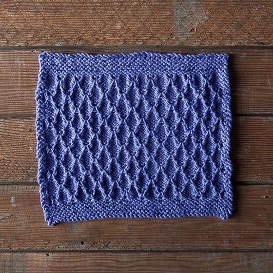 Wave Knitting Pattern : Radio Wave Dishcloth - Knitting Patterns and Crochet Patterns from KnitPicks.com