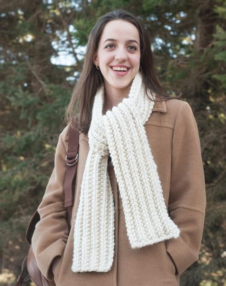 Super Bulky Mistake Stitch Scarf and Headband - Knitting Patterns and Crochet Patterns from KnitPicks.com