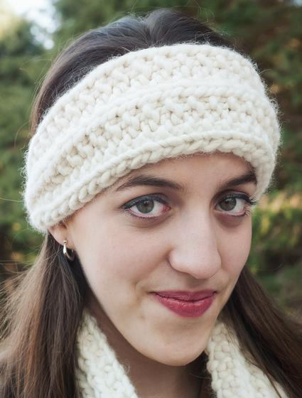 Super Bulky Mistake Stitch Scarf and Headband - Knitting Patterns and Crochet...