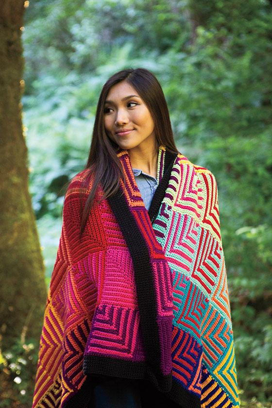Hue Shift Crochet Afghan - a Free Crochet Pattern