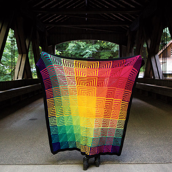 Hue Shift Crochet Afghan - FREE Crochet Patterns