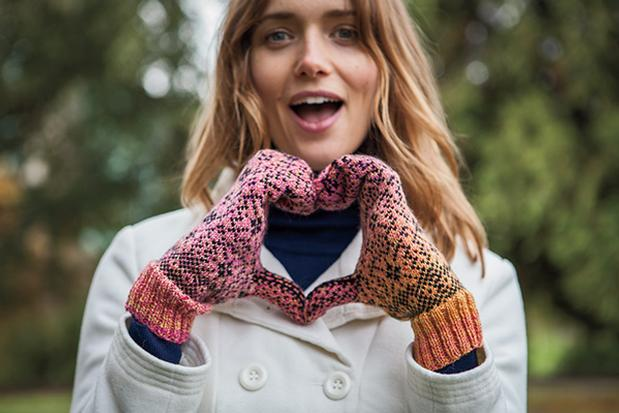 Free Knit and Crochet Patterns in Chroma Twist - Liliiflora Mittens from KnitPicks.com