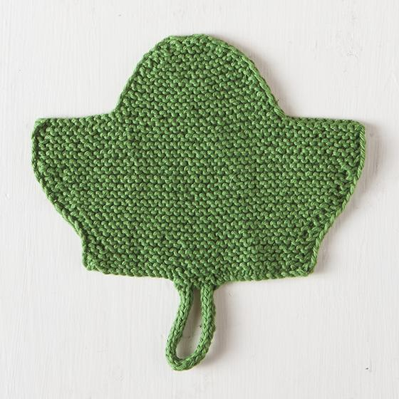 Large Leaf Knitting Pattern : Leaf Dishcloth - Knitting Patterns and Crochet Patterns from KnitPicks.com