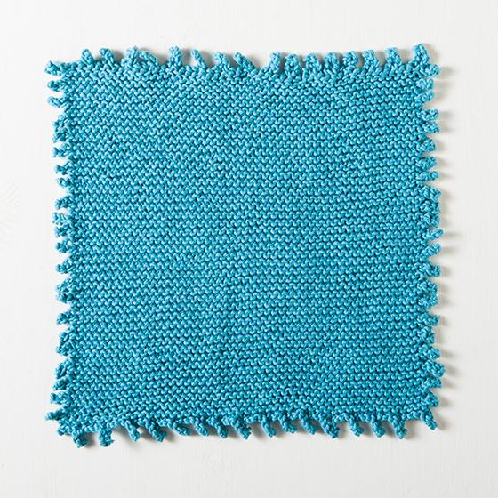 Knit Edge Patterns : Picot Edge Dishcloth - Knitting Patterns and Crochet Patterns from KnitPicks.com