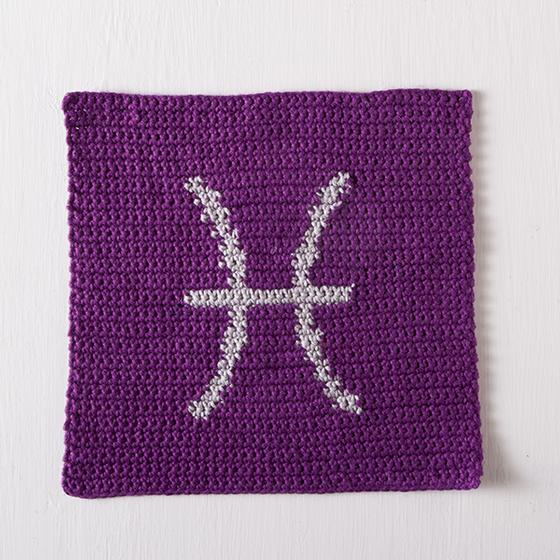 Crochet Zodiac Patterns : Zodiac Crochet Dishcloth Series - Pisces