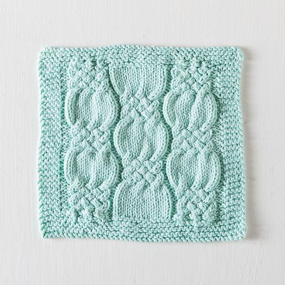 Knotted Cables Washcloth - Knitting Patterns and Crochet Patterns from KnitPi...