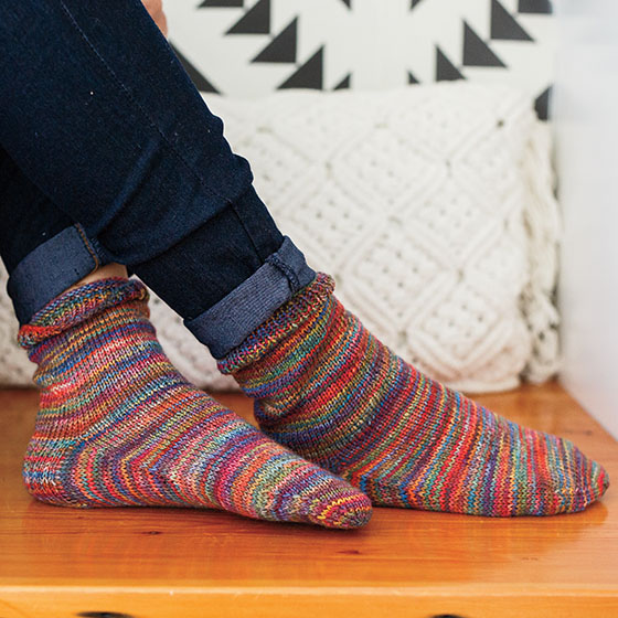 Chroma Twist Yarn - Do The Twist Free Sock Pattern - Knitpicks.com