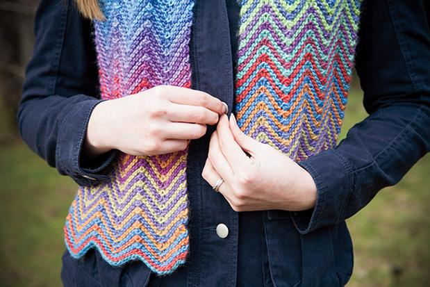 Knitting Patterns Wave Scarf : Dreamy Waves Scarf - Knitting Patterns and Crochet Patterns from KnitPicks.com