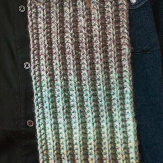 Knitting Rib Stitch On Circular Needles : Slipped rib scarf knitting patterns and crochet