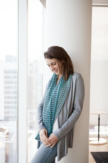 Free Knit and Crochet Patterns in Chroma Twist - Chromatic Granny Stripe Crochet Cowl from KnitPicks.com