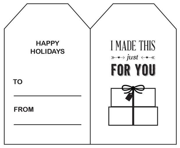 Printable Holiday Gift Tags - Free Printable Gift Tags