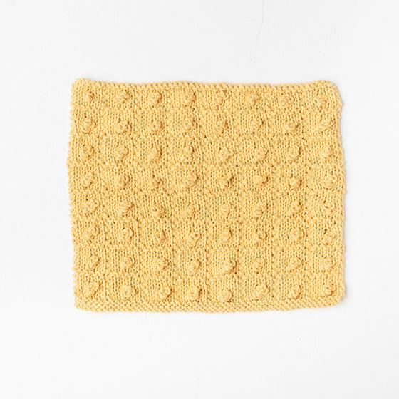 Free Popcorn Squared Dishcloth from Knit Picks