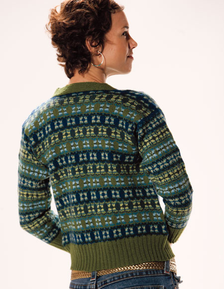 Astera Fair Isle Cardigan Pattern - Knitting Patterns and Crochet Patterns fr...
