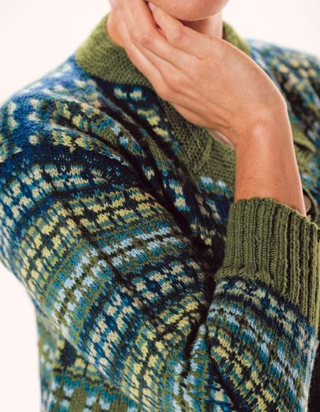 Fair Isle Sweater Knitting Patterns : Astera Fair Isle Cardigan Pattern - Knitting Patterns and Crochet Patterns fr...