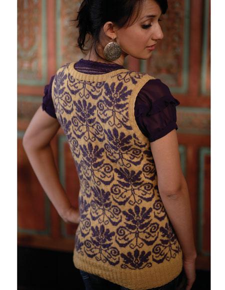 Ladies Cardigan Vest Knitting Pattern : Ladies Jacquard Sweater Vest Pattern - Knitting Patterns and Crochet Patterns...