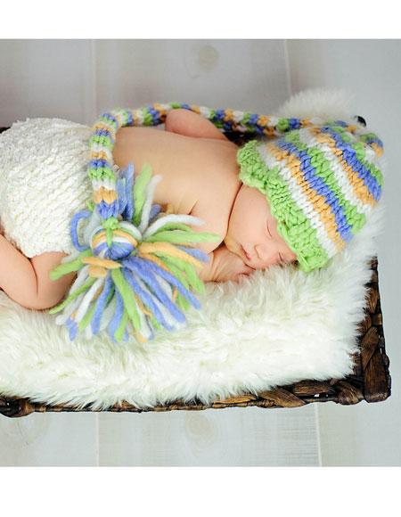 Chunky Striped Stocking Cap Pattern - Knitting Patterns and Crochet Patterns ...