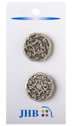 Viennese Buttons - Antique Silver