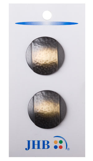 Banded Buttons - Nickel/Gold